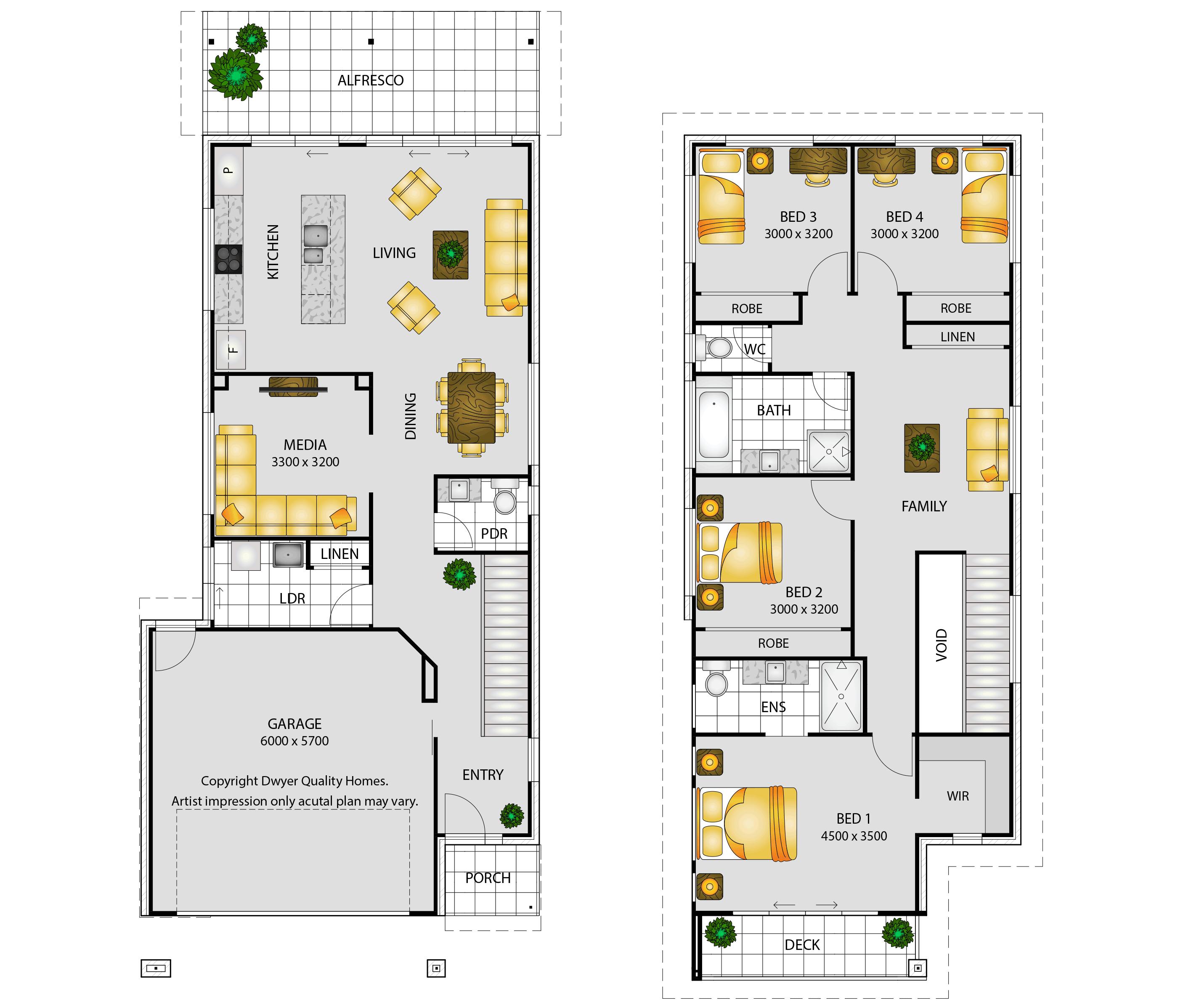 Santorini - Floorplans