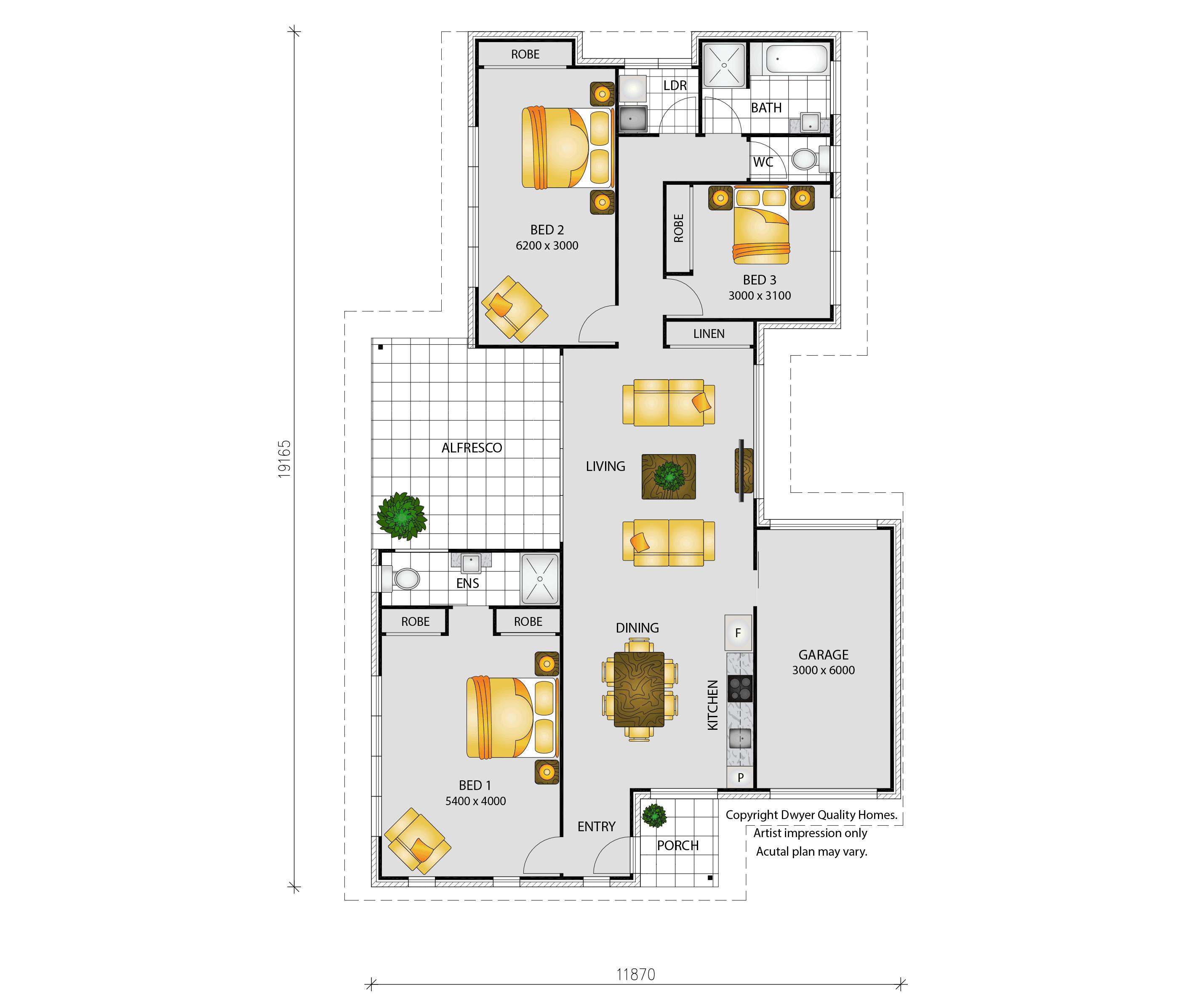 Beach Escape - Floorplans