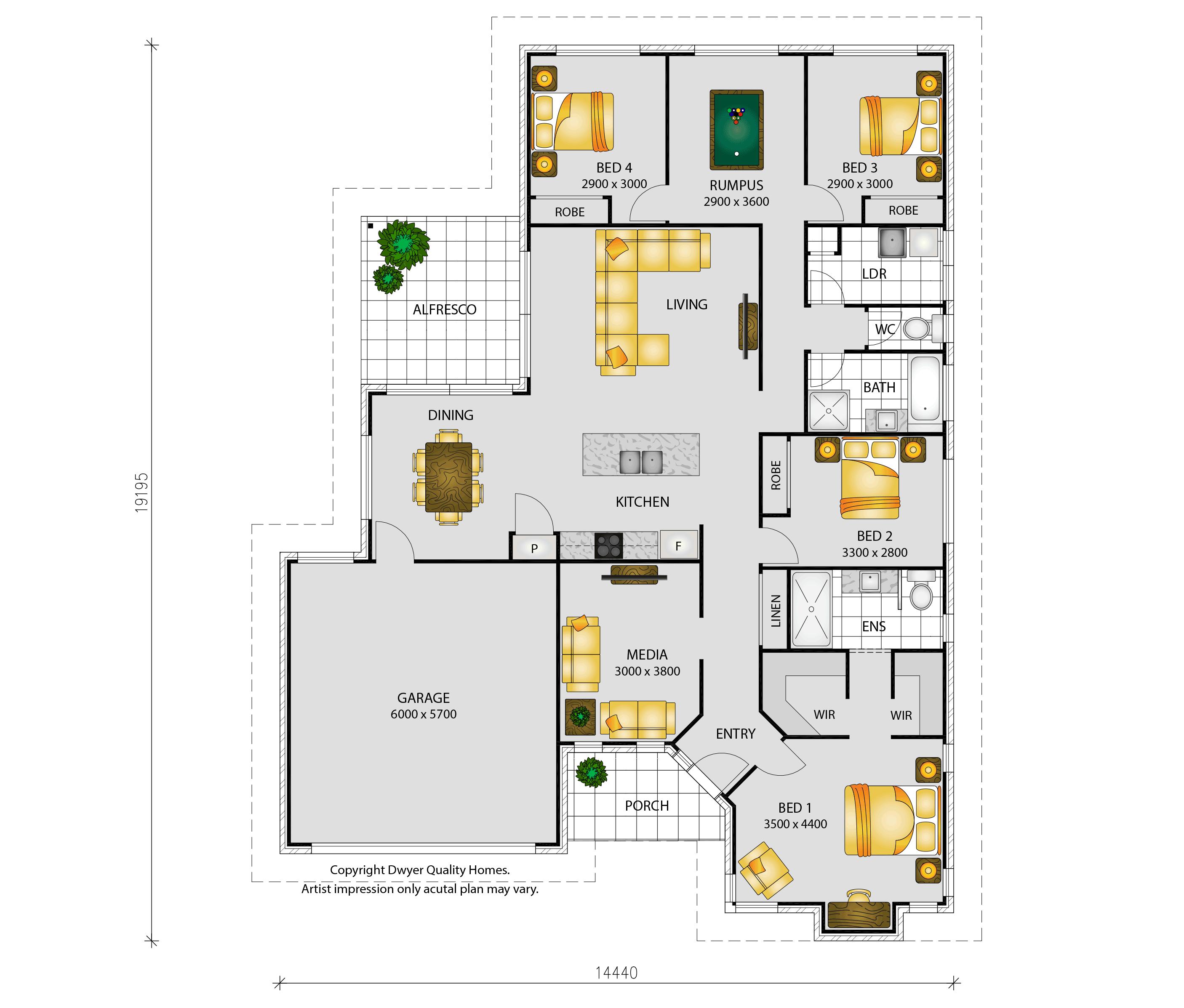 Burleigh MK II - Floorplans