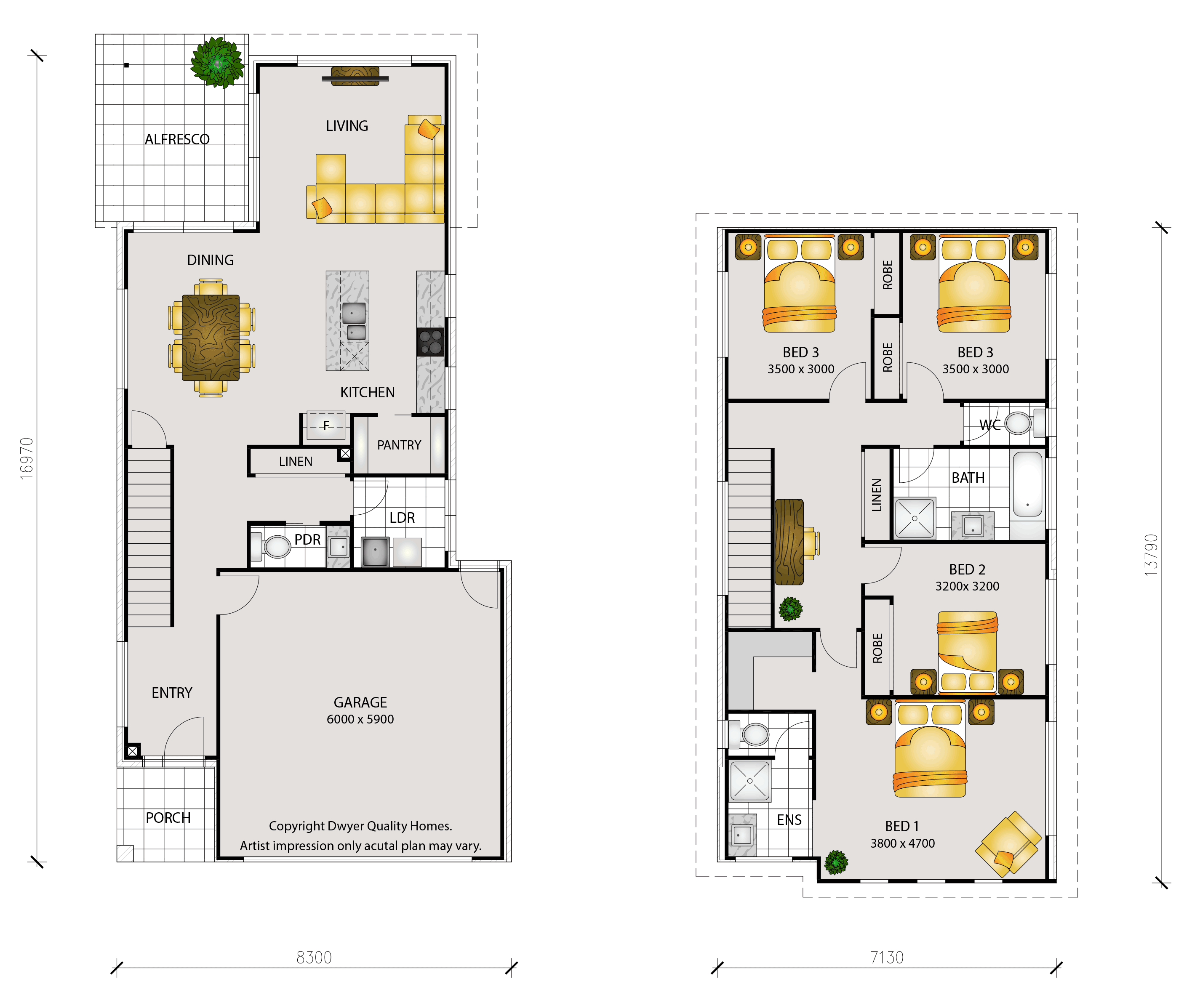 Echo - Floorplans