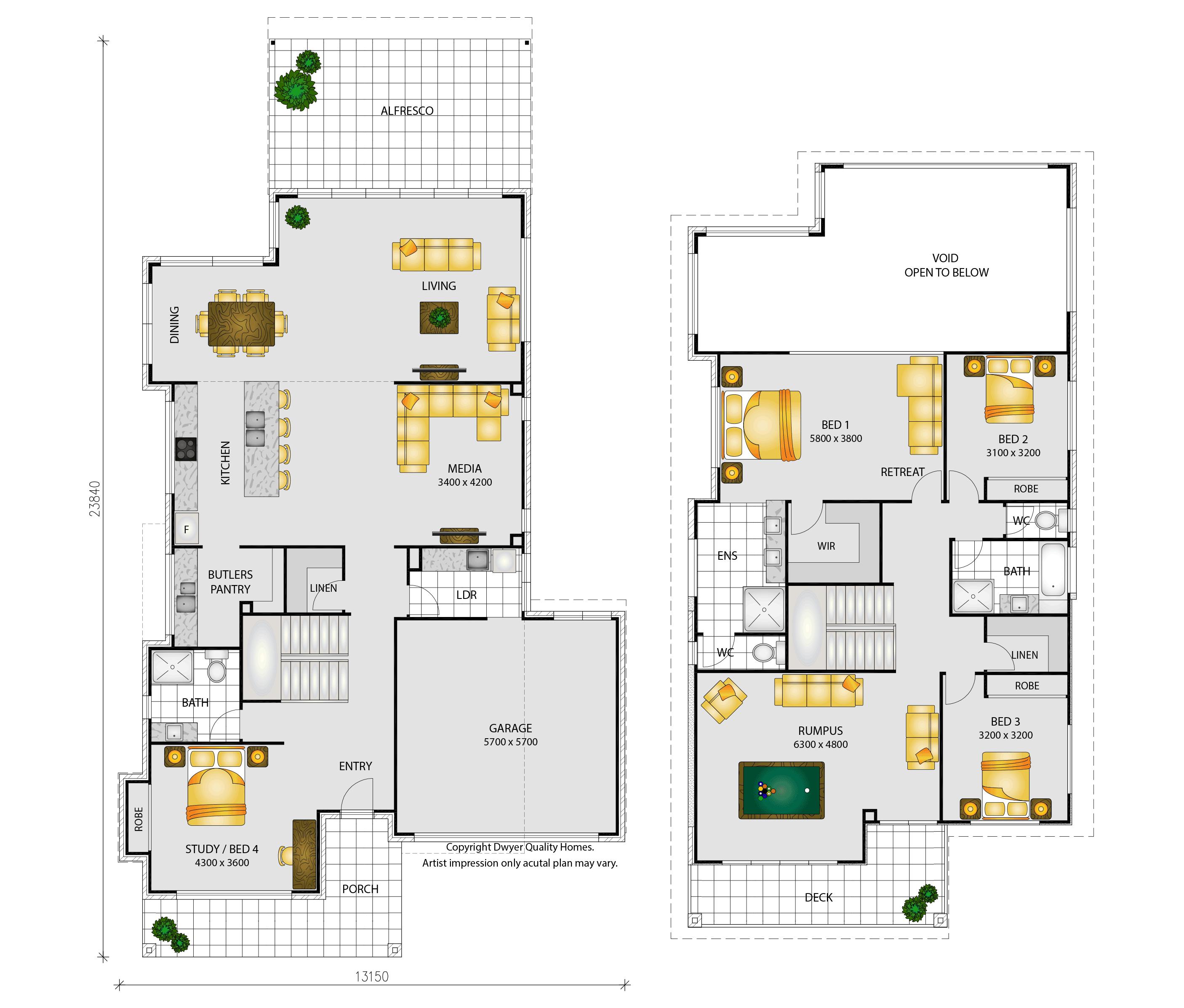 Lumbarda Floorplans