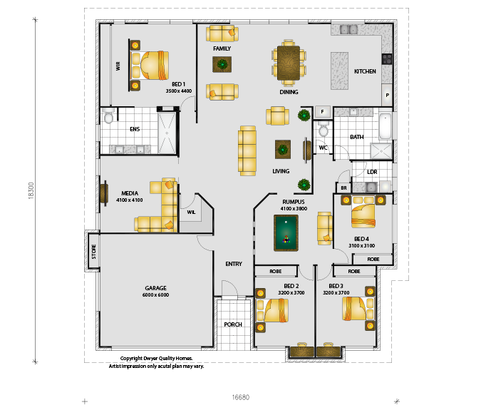 Martinique - Floorplans