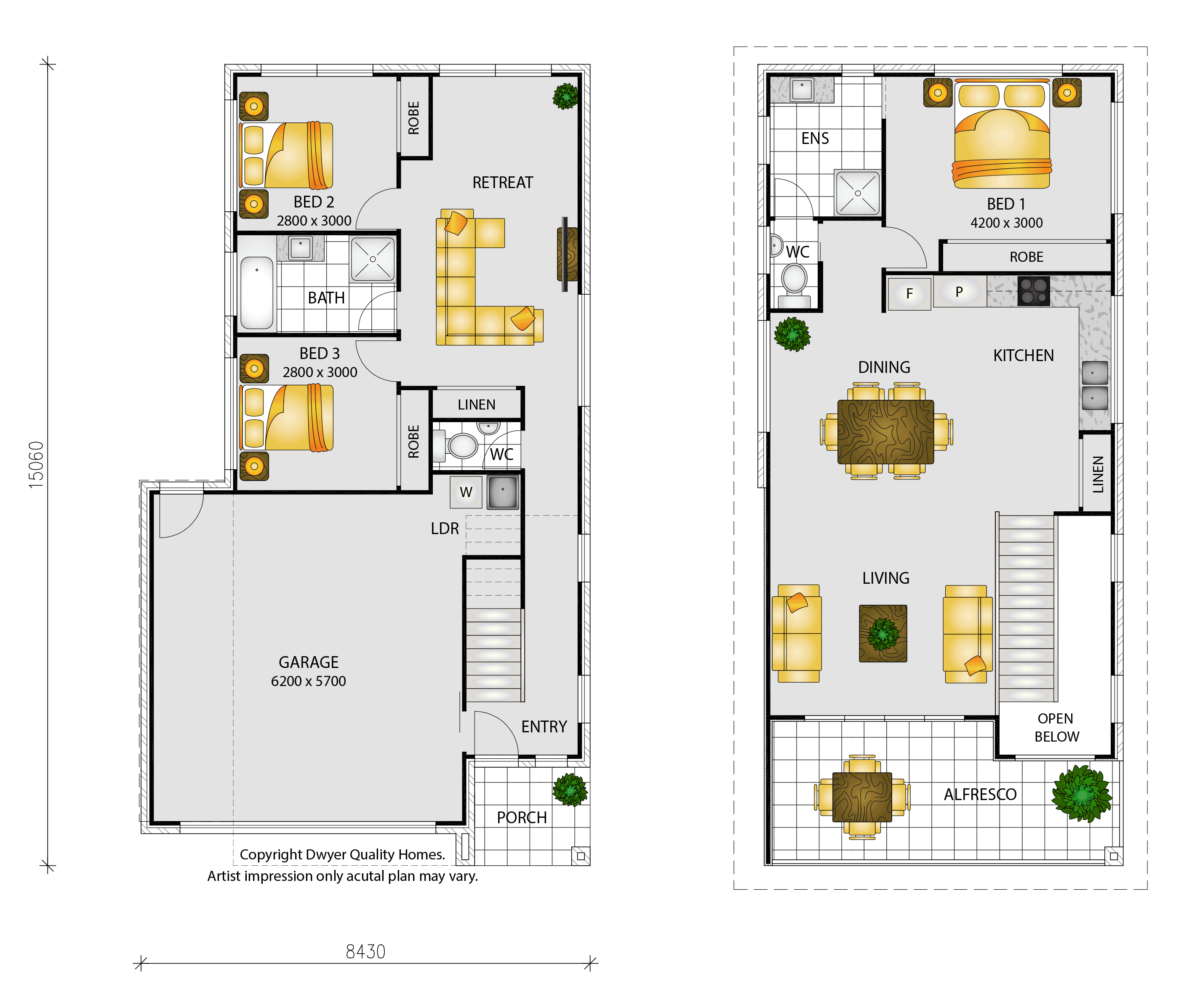 Saba - Floorplans