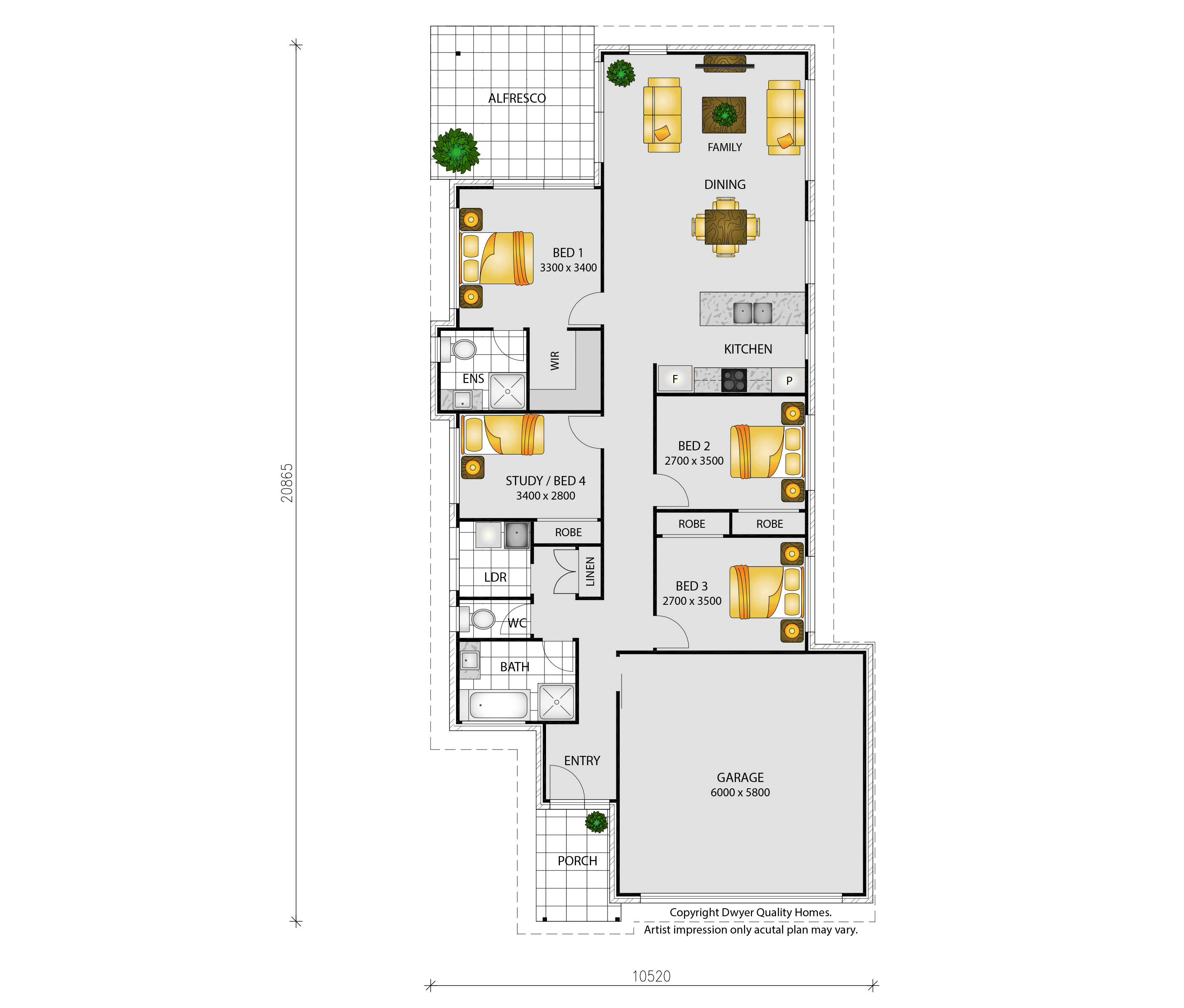 Sienna - Floorplans